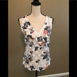 A New Day Shear white and floral top